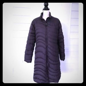 Patagonia Down Coat Purple Long Size L